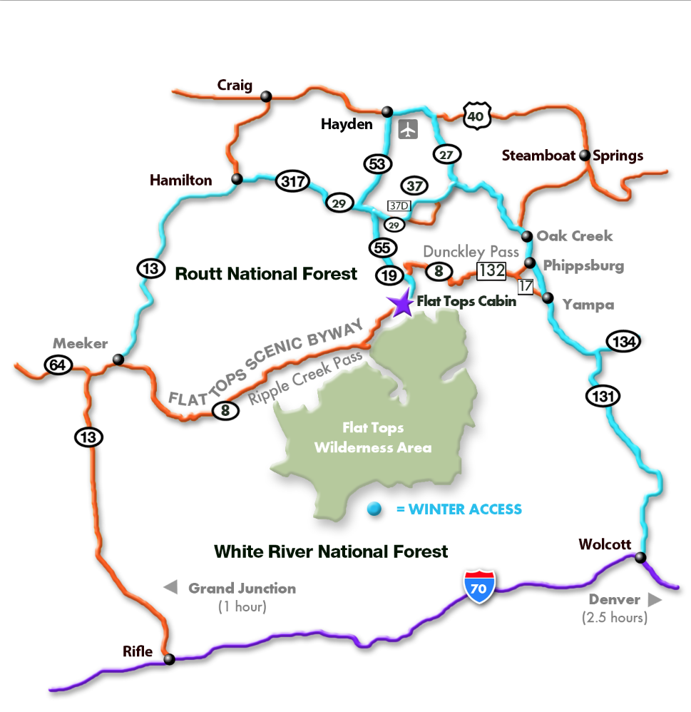 Directions & Maps - Flat Tops   Elk Hunting